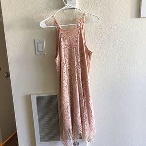 Beautiful pink lace dress